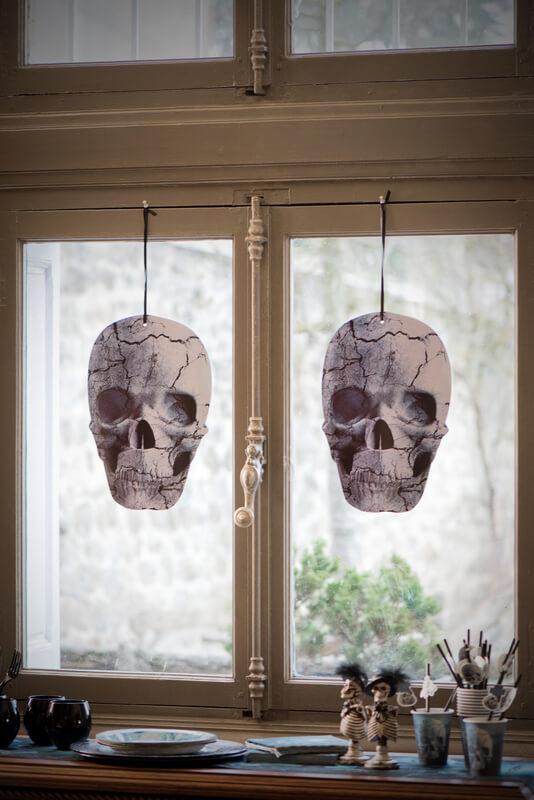 Pancarte Tête de mort Halloween