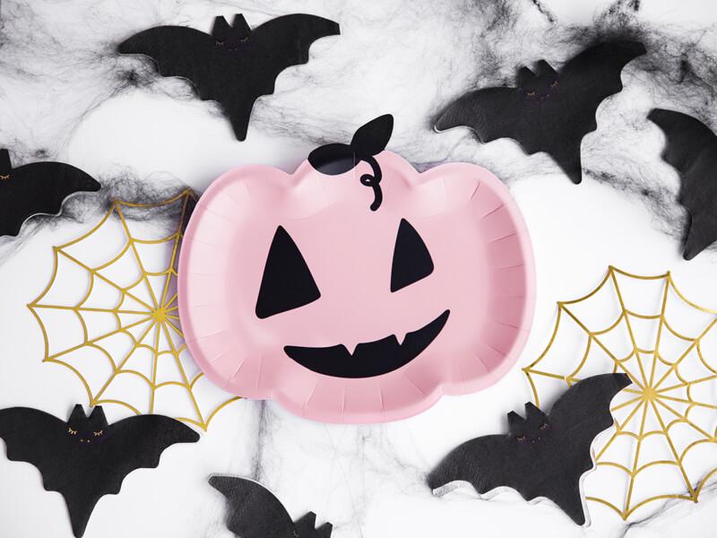 Halloween citrouille chauve-souris et toile d'araignée