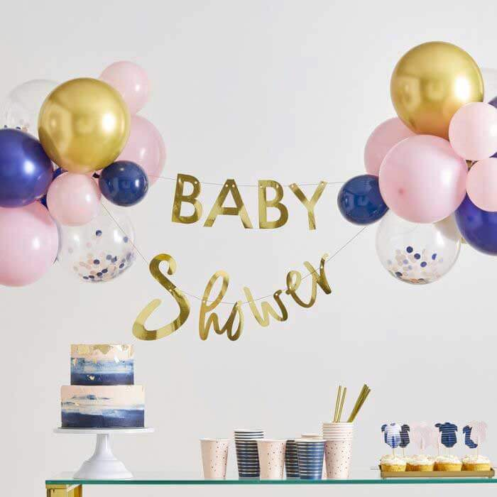 Baby shower bleu et rose